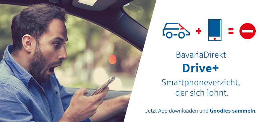 Drive+ Smartphoneverzicht, der sich lohnt. Jetzt App downloaden und Goodies sammeln.